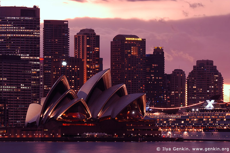 australia stock photography | The Sydney Opera House at Dusk, View from Cremorne Point, Sydney, NSW, Australia, Image ID AUOH0008