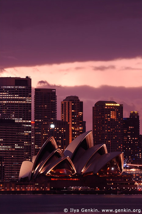 australia stock photography | The Sydney Opera House at Dusk, View from Cremorne Point, Sydney, NSW, Australia, Image ID AUOH0009