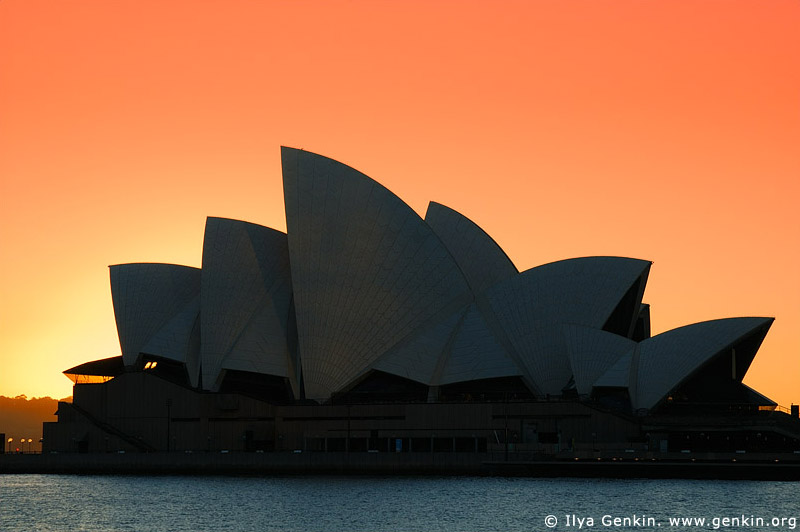 australia stock photography | The Sydney Opera House at Sunrise, Sydney, New South Wales, Australia, Image ID AUOH0011
