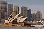 australia stock photography | The Sydney Opera House and Ocean Cruise Liner at Dawn, View from Cremorne Point, Sydney, NSW, Australia, Image ID AUOH0013.