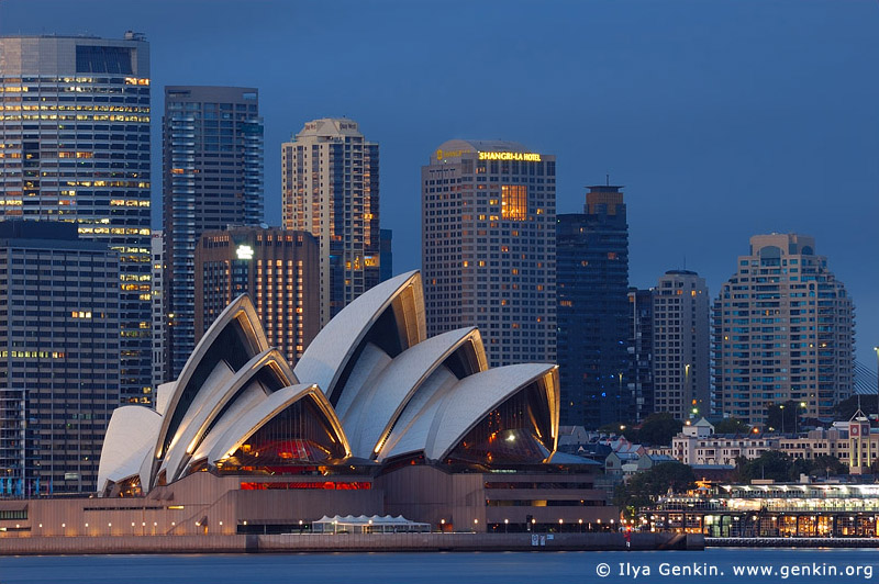 australia stock photography | The Sydney Opera House at Dawn, View from Cremorne Point, Sydney, NSW, Australia