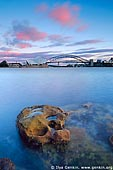 australia stock photography | The Sydney Opera House and the Harbour Bridge at Dawn, Sydney, NSW, Australia, Image ID AUOH0017.