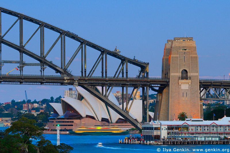 australia stock photography | Sydney City at Dusk, View from Balls Head, Sydney, NSW, Australia, Image ID AUOH0018