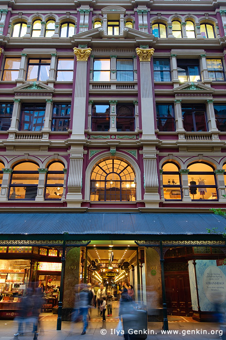 australia stock photography | The Strand Arcade at Dusk, Sydney, New South Wales (NSW), Australia, Image ID STRAND-ARCADE-0010