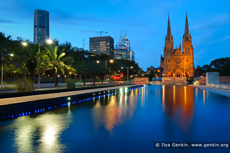 australia stock photography | St. Mary's Cathedral at Dusk, Sydney, NSW, Australia, Image ID AU-SYDNEY-ST-MARYS-CATHEDRAL-0005