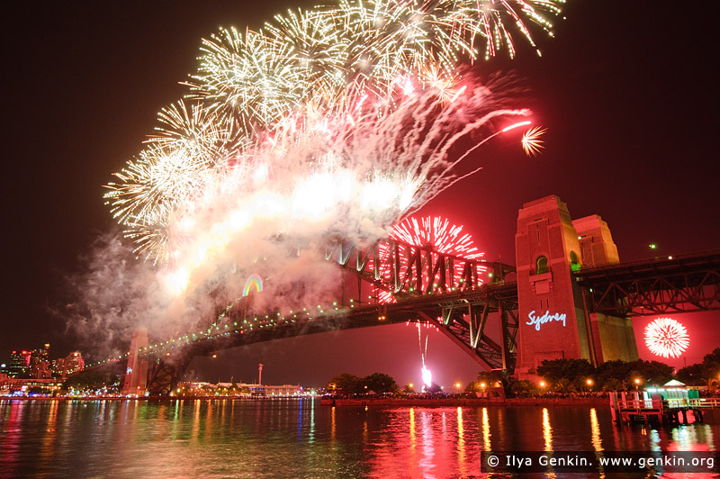 australia stock photography | Midnight Fireworks Display, Sydney, New South Wales (NSW), Australia, Image ID SYDNEY-NYE-FIREWORKS-0010
