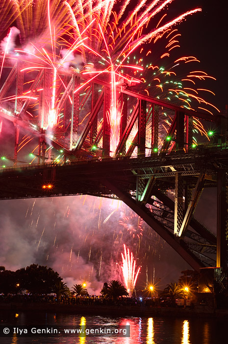 australia stock photography | Sydney's New Year Eve Fireworks over Harbour Bridge, Sydney, New South Wales (NSW), Australia, Image ID SYDNEY-NYE-FIREWORKS-0011