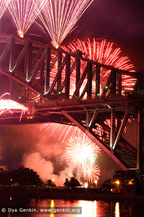 australia stock photography | New Year Eve Fireworks over Sydney Harbour Bridge, Sydney, New South Wales (NSW), Australia, Image ID SYDNEY-NYE-FIREWORKS-0013