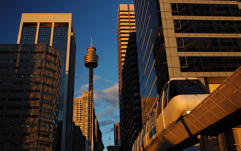 australia stock photography | Sydney Monorail, Sydney, New South Wales (NSW), Australia, Image ID AU-SYDNEY-MONORAIL-0003