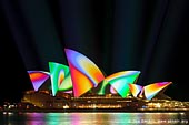 australia stock photography | Lighting the Sails - Vivid Sydney 2011, Sydney, NSW, Australia, Image ID VIVID-SYDNEY-LIGHTING-THE-SAILS-0038.