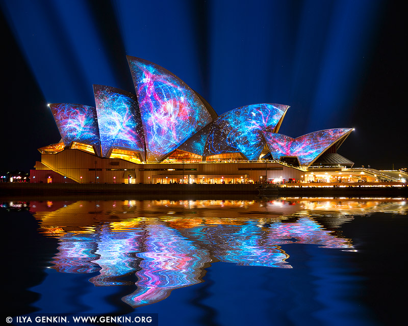 australia stock photography | Vivid Sydney 2014 - Lighting of the Sails, Sydney, NSW, Australia, Image ID VIVID-SYDNEY-2014-0001