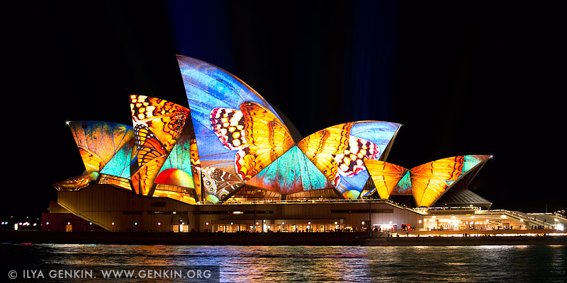 australia stock photography | Vivid Sydney 2014 - Lighting of the Sails, Sydney, NSW, Australia, Image ID VIVID-SYDNEY-2014-0003