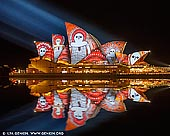 australia stock photography | Lighting The Sails 'Songlines' - Vivid Sydney 2016, Sydney, NSW, Australia, Image ID VIVID-SYDNEY-2016-0002. Vivid Sydney only comes around once a year, and honestly, how often will you see the city glowing like the emerald city on steroids? Every year Vivid Sydney seems to get bigger and bigger. There are more lights, more walks, more crowds (er), and more days to explore and experience this festival of light. In 2016 Vivid Sydney run over 3 weeks from 27 May to 18 June, which gave people more than enough time to pre-plan how they would experience this spectacle. Vivid Sydney is a unique annual event of light, music and ideas, featuring an outdoor 'gallery' of extraordinary lighting sculptures, a cutting-edge contemporary music program, some of the world�s most important creative industry forums and, of course, the spectacular illumination of the Sydney Opera House sails.