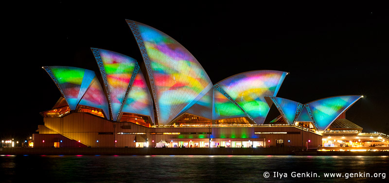 australia stock photography | Lighting the Sails - Vivid Sydney 2011, Sydney, NSW, Australia, Image ID VIVID-SYDNEY-LIGHTING-THE-SAILS-0006