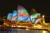australia stock photography | Lighting the Sails - Vivid Sydney 2011, Sydney, NSW, Australia, Image ID VIVID-SYDNEY-LIGHTING-THE-SAILS-0022.