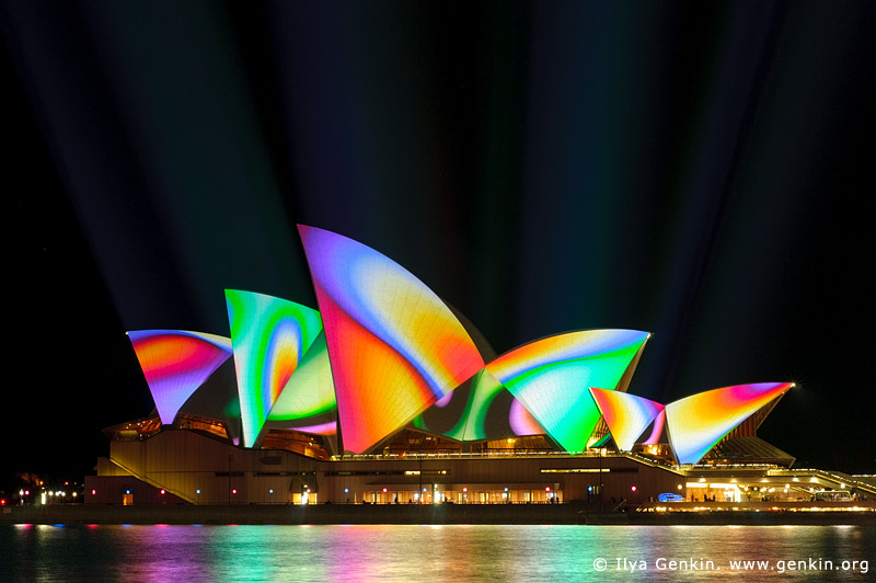 australia stock photography | Lighting the Sails - Vivid Sydney 2011, Sydney, NSW, Australia, Image ID VIVID-SYDNEY-LIGHTING-THE-SAILS-0038