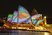 australia stock photography | Lighting the Sails - Vivid Sydney 2011, Sydney, NSW, Australia, Image ID VIVID-SYDNEY-LIGHTING-THE-SAILS-0046.