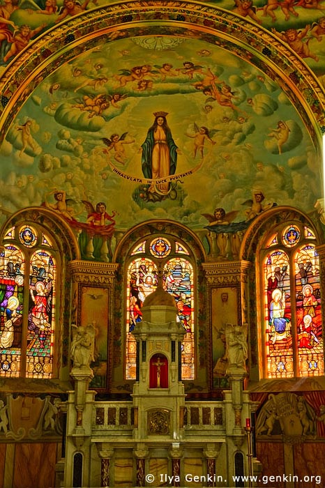 australia stock photography | The Spectacular Murals Adorning the Interior of St Mary's Church, Bairnsdale, Gippsland, VIC, Australia, Image ID AU-BAIRNSDALE-0002