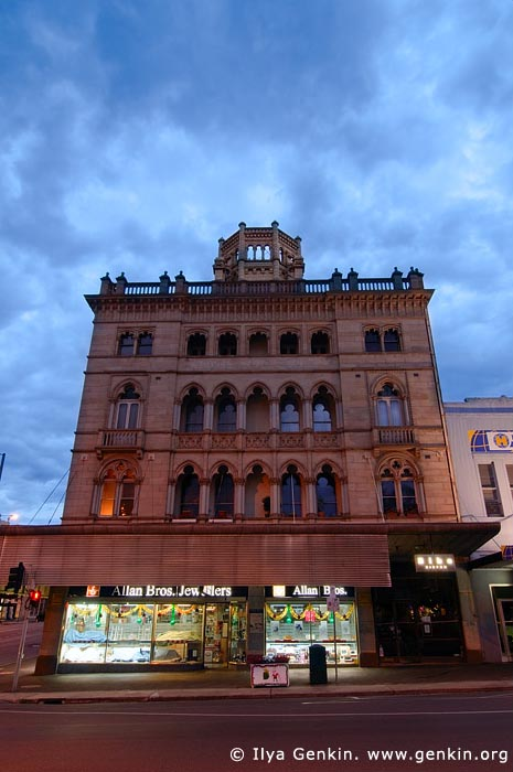 australia stock photography | Ballarat Architecture at Twilight, Corner Sturt and Lydiard Streets, Ballarat, VIC, Australia, Image ID AU-BALLARAT-0003