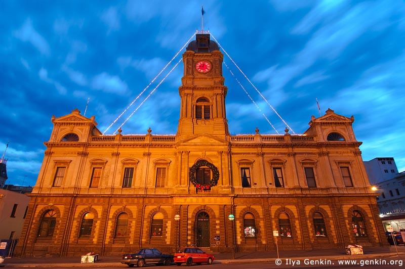 australia stock photography | Ballarat Town Hall at Dusk, Ballarat, VIC, Australia, Image ID AU-BALLARAT-0004