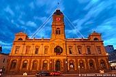 australia stock photography | Ballarat Town Hall at Dusk, Ballarat, VIC, Australia, Image ID AU-BALLARAT-0004.