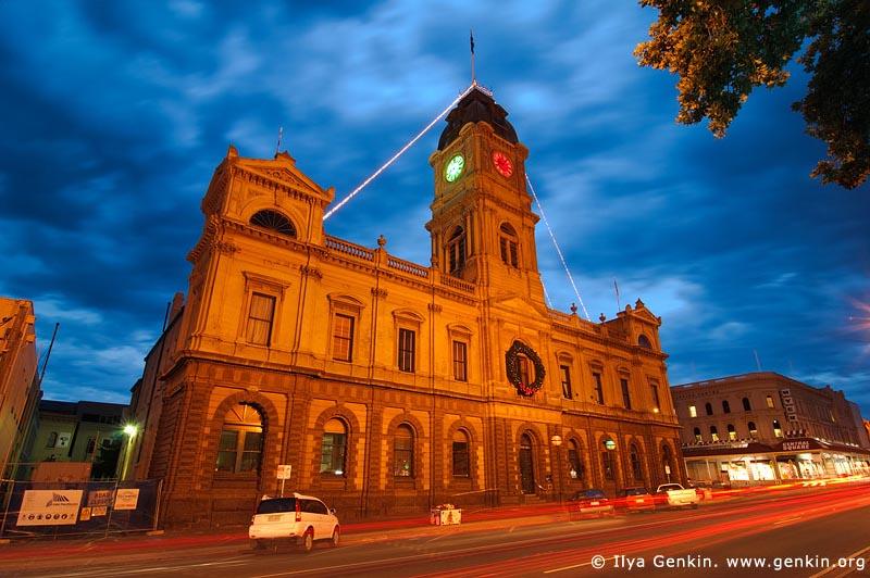 australia stock photography | Ballarat Town Hall at Dusk, Ballarat, VIC, Australia, Image ID AU-BALLARAT-0005