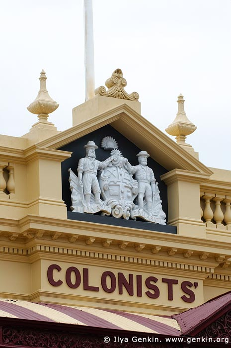 australia stock photography | The Old Colonist's Hall Architecture Details, Ballarat, VIC, Australia, Image ID AU-BALLARAT-0017