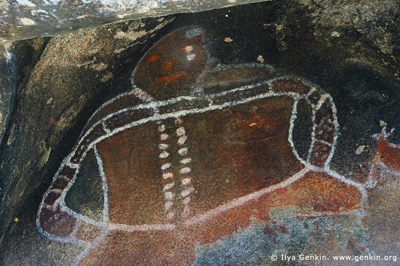 australia stock photography   Aboriginal Rock Art Paintings at Bunjil's Shelter, Stawell, Victoria (VIC), Australia, Image ID BUNJIL-SHELTER-0002