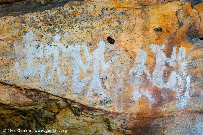 australia stock photography | Aboriginal Rock Art Paintings at Ngamadjidj Shelter, Grampians National Park, Victoria (VIC), Australia, Image ID NGAMADJIDI-SHELTER-0002