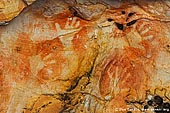 australia stock photography | Aboriginal Rock Art Paintings at Ngamadjidj Shelter, Grampians National Park, Victoria (VIC), Australia, Image ID NGAMADJIDI-SHELTER-0003. Close-up stock image of the paintings at Ngamadjidj - Aboriginal Rock Art Site in the Grampians National Park (Gariwerd), Victoria (VIC), Australia.