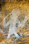 australia stock photography | Aboriginal Rock Art Paintings at Ngamadjidj Shelter, Grampians National Park, Victoria (VIC), Australia, Image ID NGAMADJIDI-SHELTER-0005. Close-up stock image of the paintings at Ngamadjidj - Aboriginal Rock Art Site in the Grampians National Park (Gariwerd), Victoria (VIC), Australia.