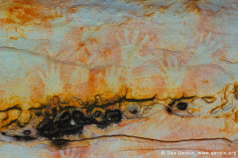 australia stock photography | Aboriginal Rock Art Paintings at Ngamadjidj Shelter, Grampians National Park, Victoria (VIC), Australia, Image ID NGAMADJIDI-SHELTER-0006
