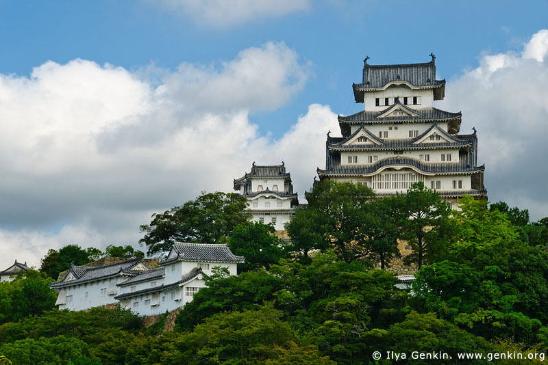 japan stock photography | Himeji Castle, Hyogo Prefecture, Kansai region, Honshu Island, Japan, Image ID JPHJ0004