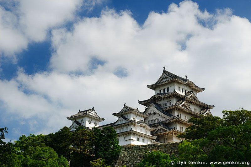 japan stock photography | Himeji Castle, Hyogo Prefecture, Kansai region, Honshu Island, Japan, Image ID JPHJ0007