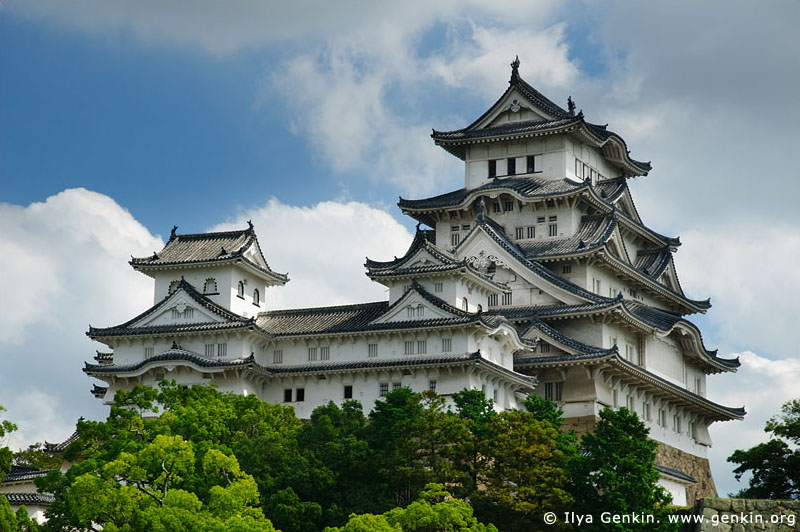 japan stock photography | Himeji Castle, Hyogo Prefecture, Kansai region, Honshu Island, Japan, Image ID JPHJ0008