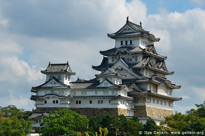 japan stock photography | Himeji Castle, Hyogo Prefecture, Kansai region, Honshu Island, Japan, Image ID JPHJ0009