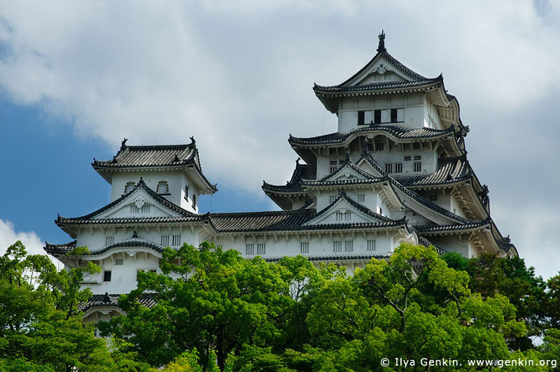 japan stock photography | Himeji Castle, Hyogo Prefecture, Kansai region, Honshu Island, Japan, Image ID JPHJ0010