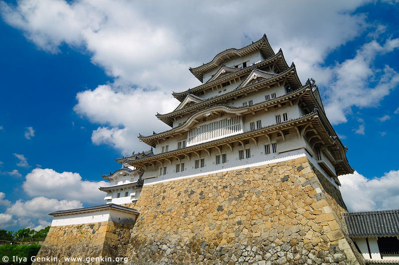 japan stock photography | Himeji Castle, Hyogo Prefecture, Kansai region, Honshu Island, Japan, Image ID JPHJ0016