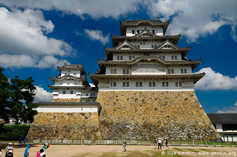 japan stock photography | Himeji Castle, Hyogo Prefecture, Kansai region, Honshu Island, Japan, Image ID JPHJ0017
