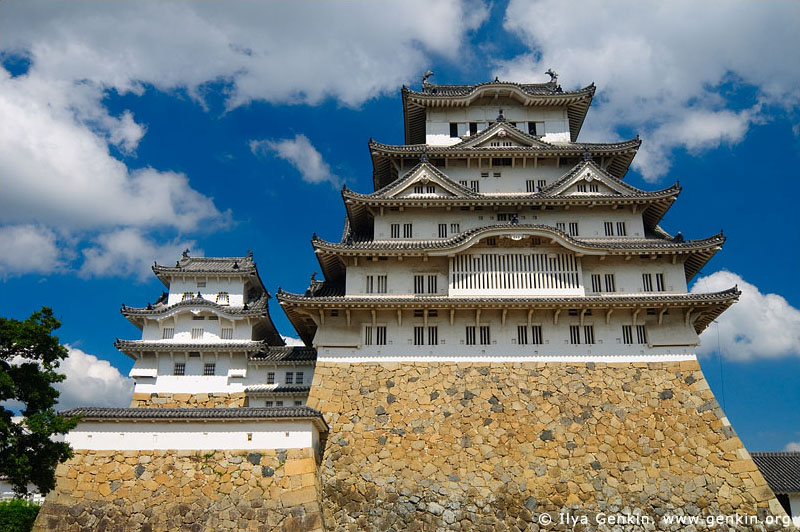 japan stock photography | Himeji Castle, Hyogo Prefecture, Kansai region, Honshu Island, Japan, Image ID JPHJ0018