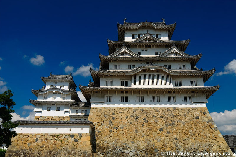 japan stock photography | Himeji Castle, Hyogo Prefecture, Kansai region, Honshu Island, Japan, Image ID JPHJ0023