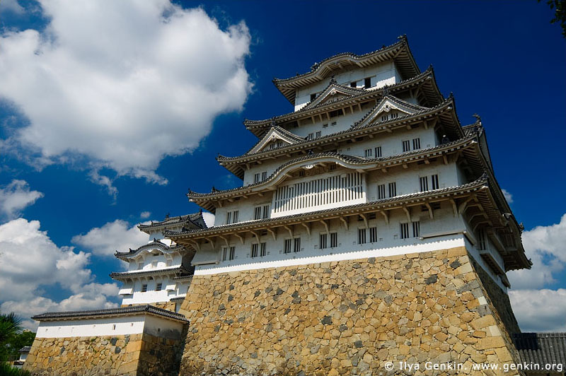 japan stock photography | Himeji Castle, Hyogo Prefecture, Kansai region, Honshu Island, Japan, Image ID JPHJ0024