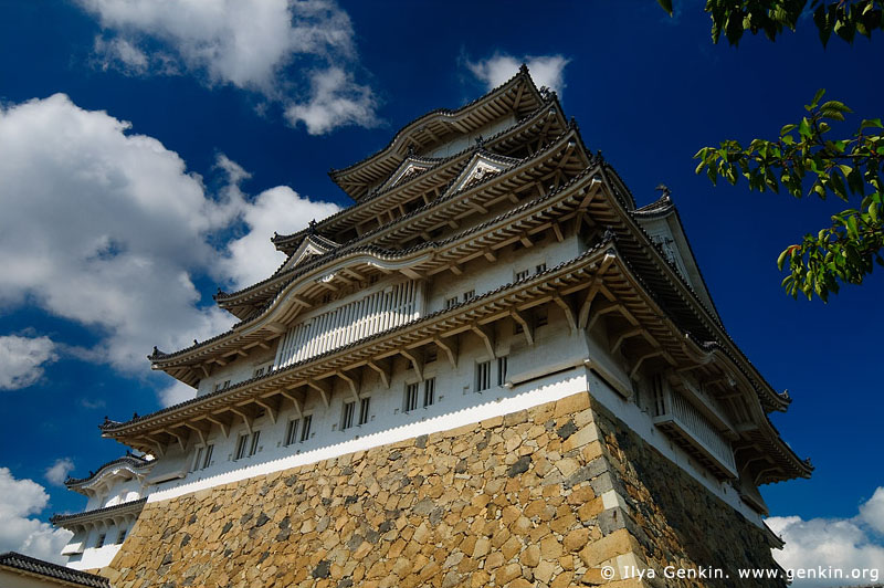japan stock photography | Himeji Castle, Hyogo Prefecture, Kansai region, Honshu Island, Japan, Image ID JPHJ0025