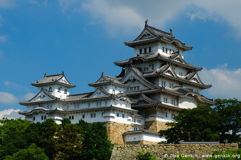 japan stock photography | Himeji Castle, Hyogo Prefecture, Kansai region, Honshu Island, Japan, Image ID JPHJ0027