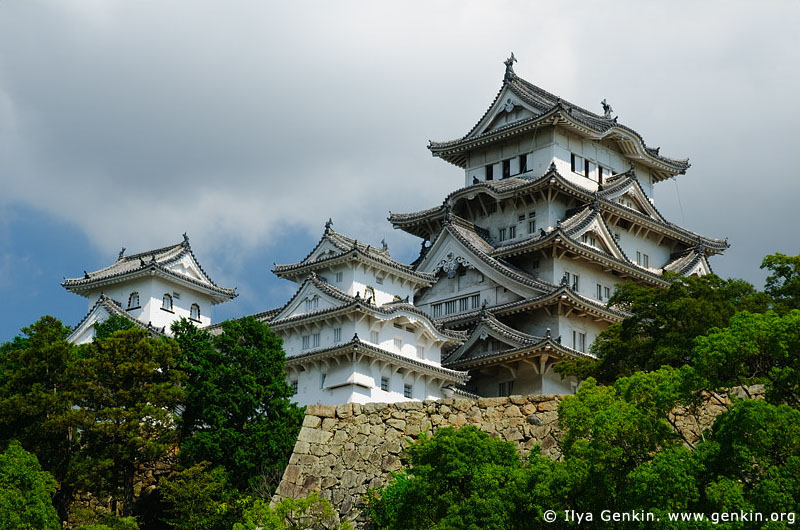 japan stock photography | Himeji Castle, Hyogo Prefecture, Kansai region, Honshu Island, Japan, Image ID JPHJ0028