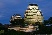 japan stock photography | Himeji Castle at Night, Hyogo Prefecture, Kansai region, Honshu Island, Japan, Image ID JPHJ0033.