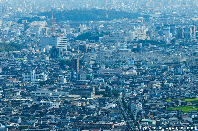 japan stock photography | Himeji. View from Mount Shosha., Hyogo Prefecture, Kansai region, Honshu Island, Japan, Image ID JPHJ0062