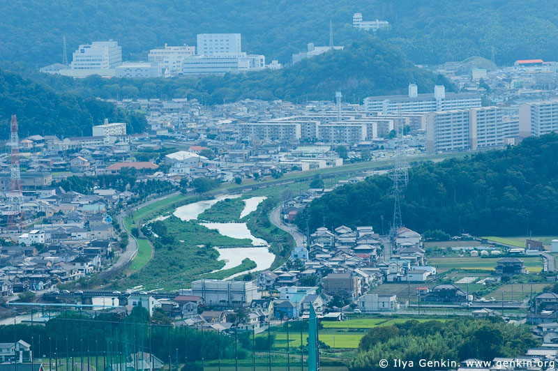 japan stock photography | Himeji. View from Mount Shosha., Hyogo Prefecture, Kansai region, Honshu Island, Japan, Image ID JPHJ0064