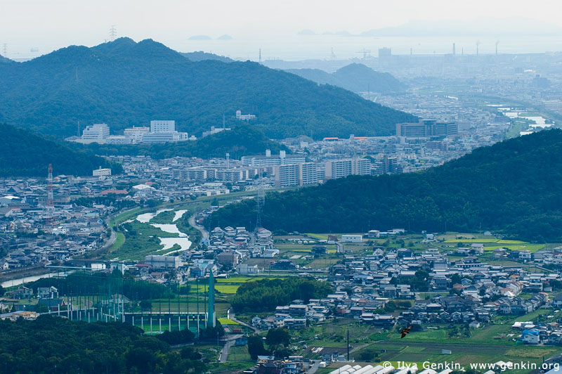 japan stock photography | Himeji. View from Mount Shosha., Hyogo Prefecture, Kansai region, Honshu Island, Japan, Image ID JPHJ0065