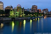 japan stock photography | Atomic Bomb Dome at Dusk, Hiroshima, Honshu, Japan, Image ID JPHI0007.